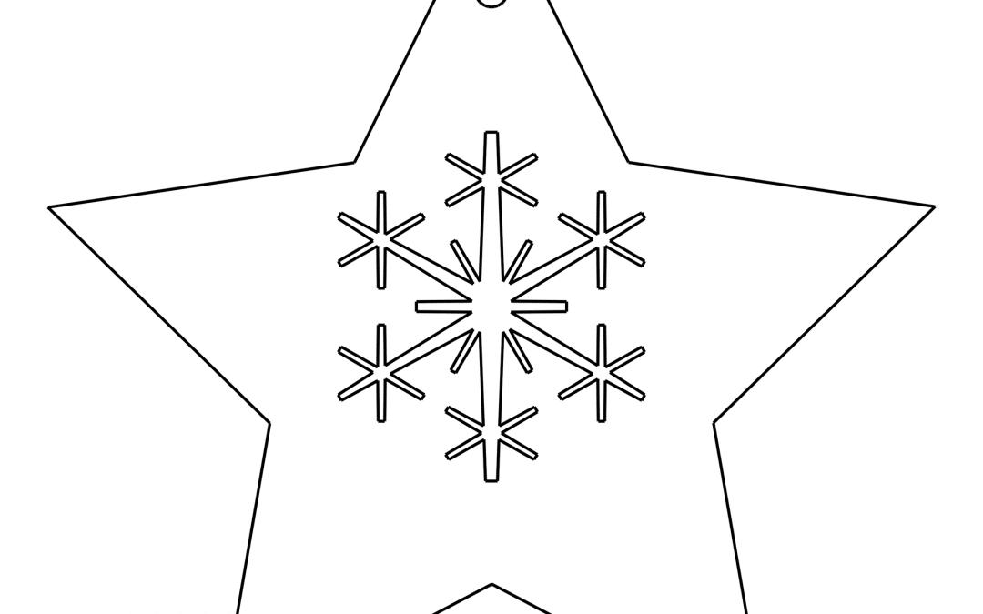 Esfera de estrella con copo