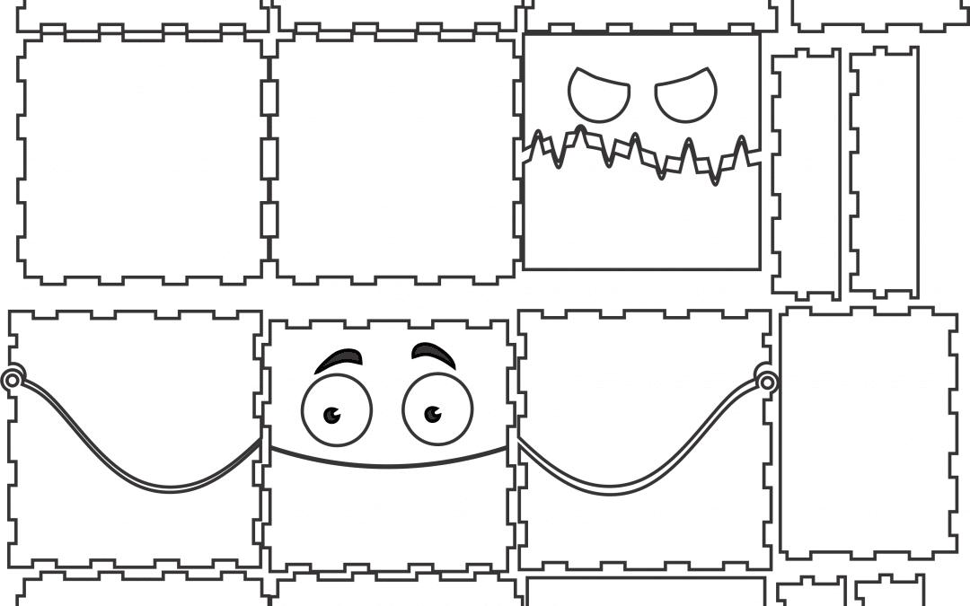 Cajas con ojos de montruos
