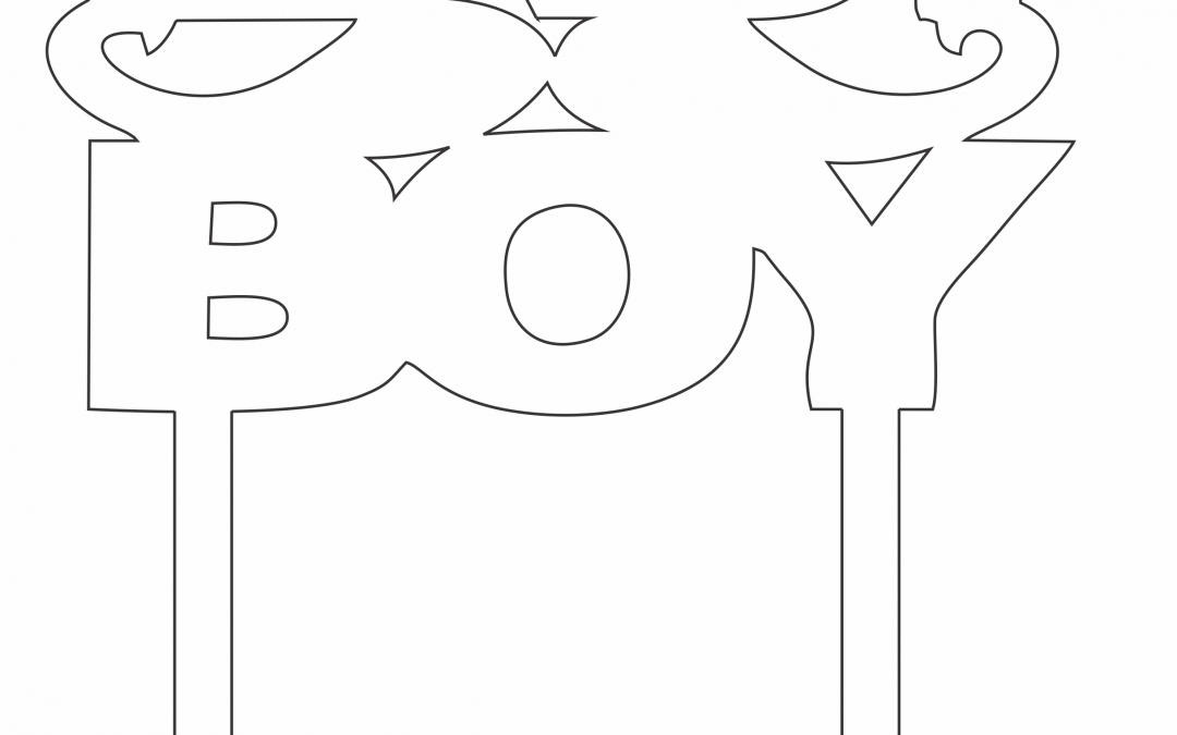 """Topper """"Baby boy"""""""