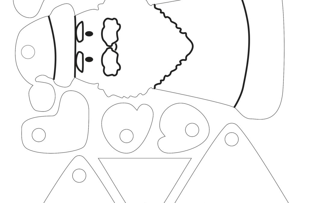 Esfera armable de Santa Claus