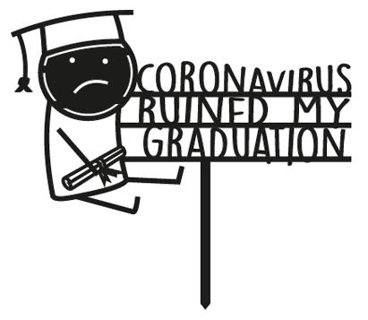 Topper de graduación con coronavirus