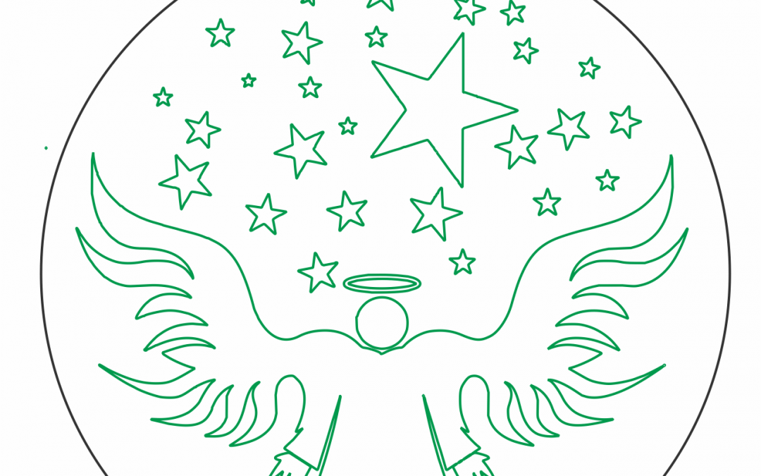 Esfera de ángel y estrella
