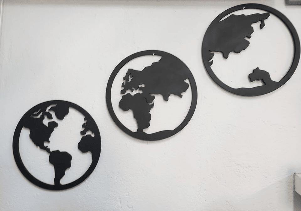 "Cuadros circulares ""Mundo"""