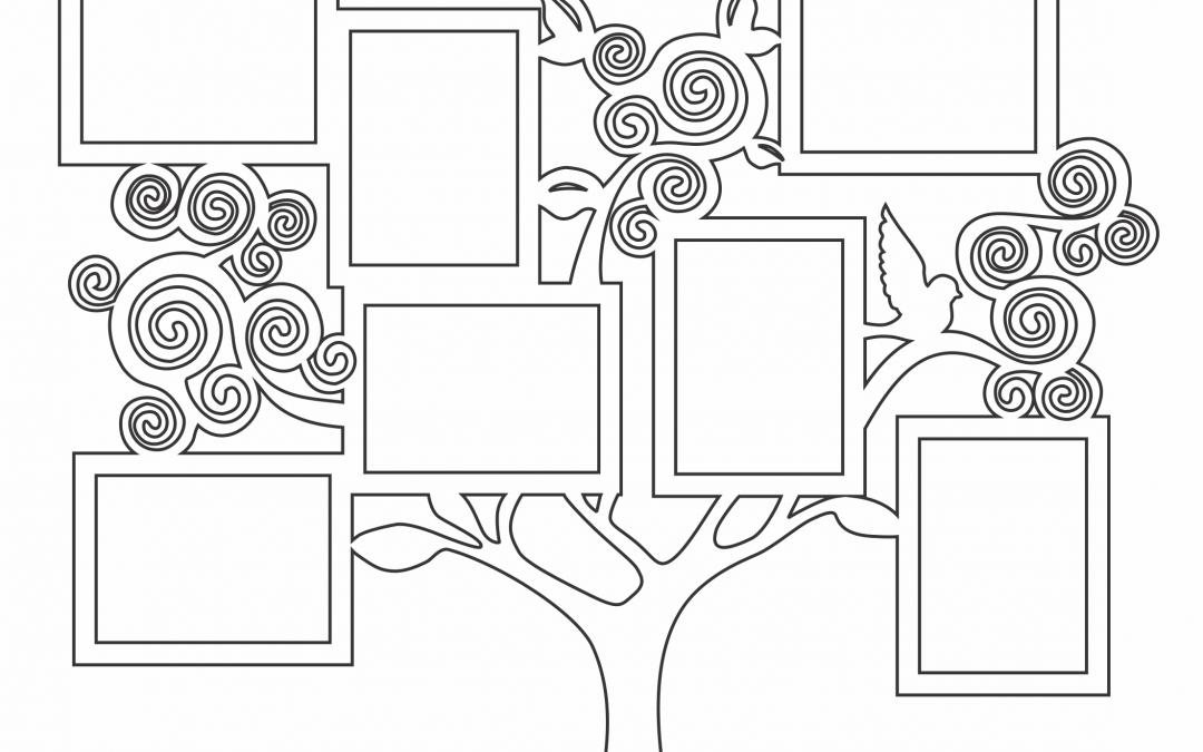 Portarretratos Árbol de espirales