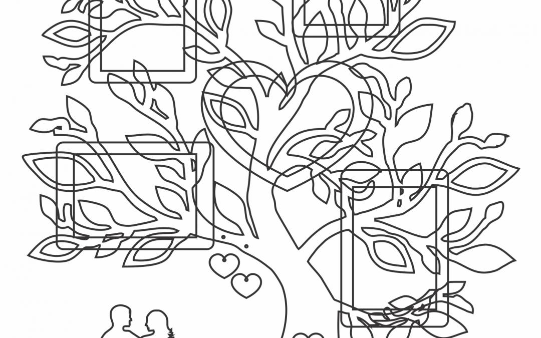 """Portarretrato """"Árbol de corazón"""""""