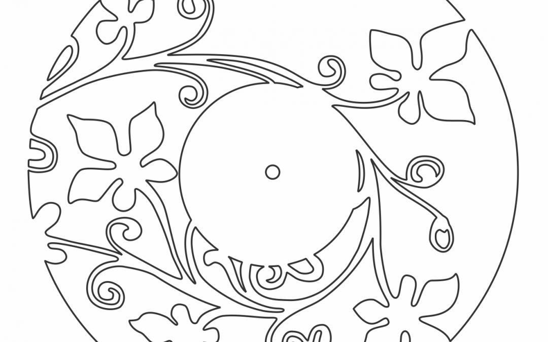 Reloj circular con flores