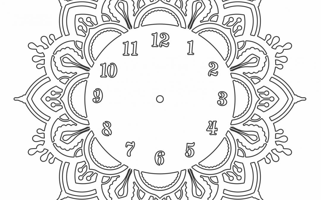 Reloj Mandala de Flor