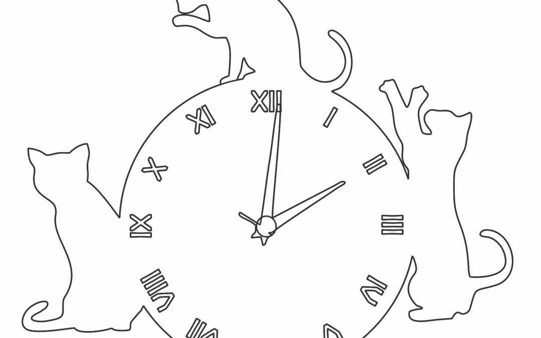 Reloj con gatos