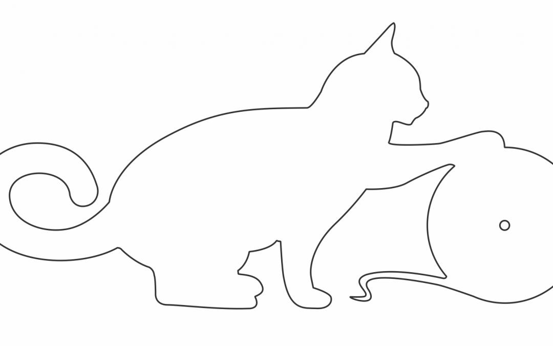 Reloj de gato con estambre