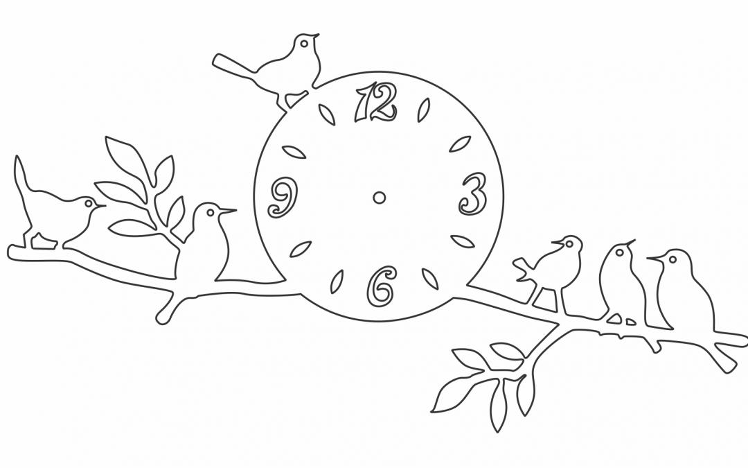 """Reloj """"Pájaros en rama"""""""
