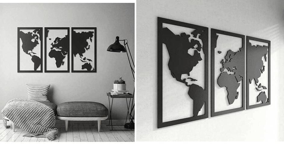 """Set de cuadros """"Mundo"""""""