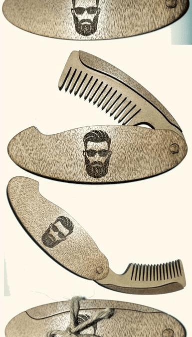 Peine de madera de bolsillo