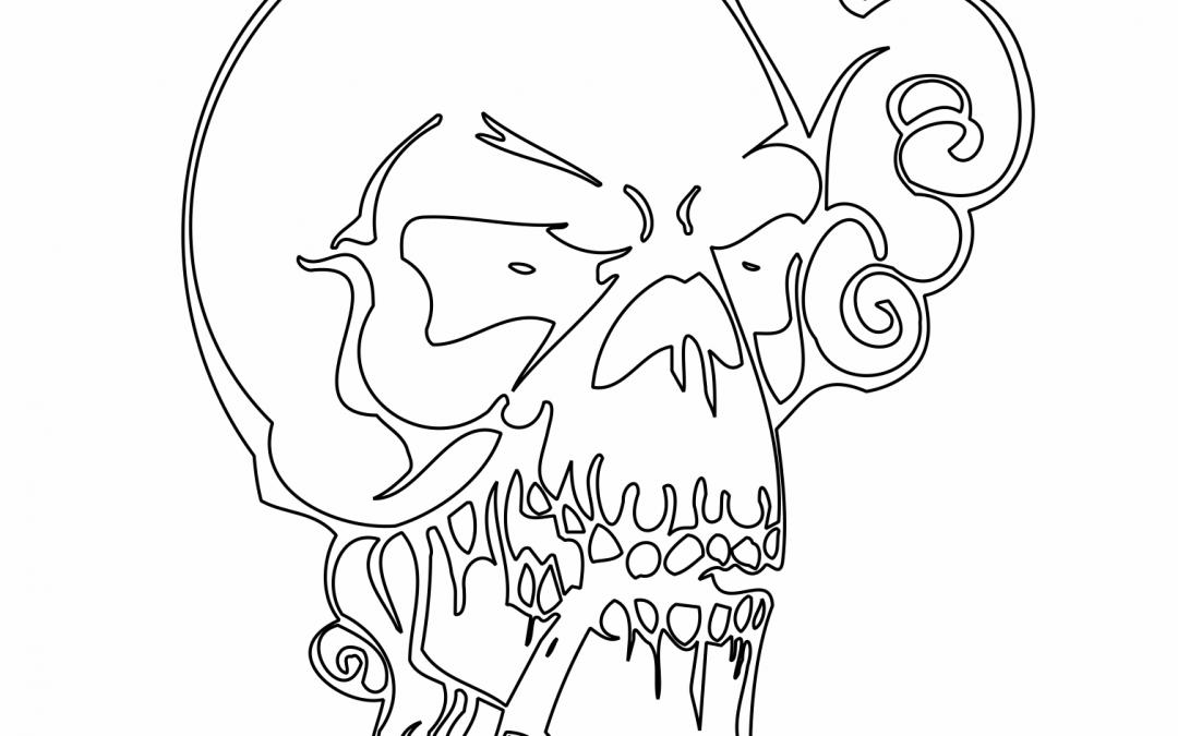 Cráneo con pipa