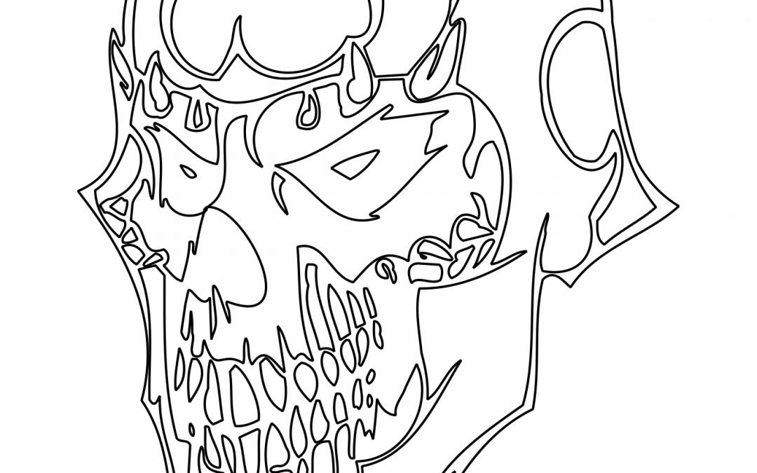 Cráneo con máscara