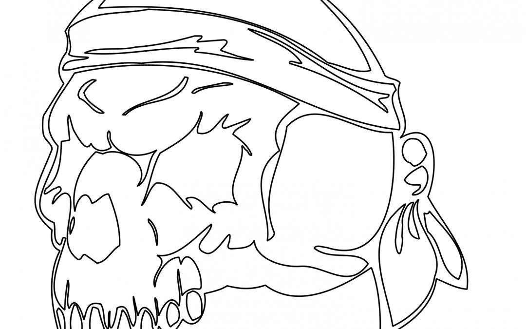 Cráneo con paliacate