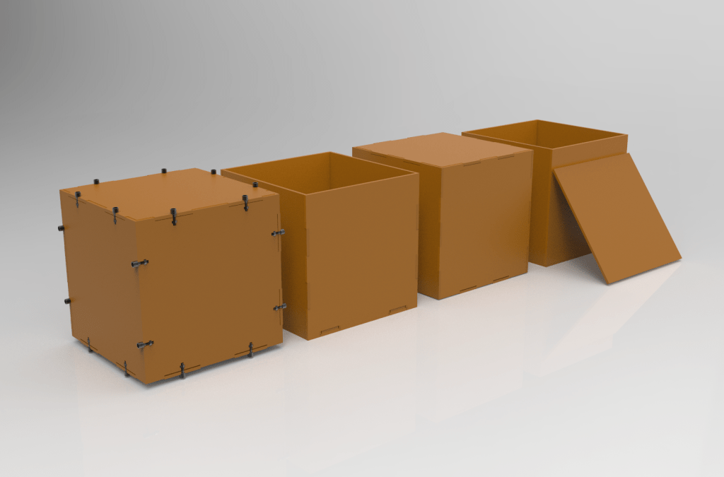 4 tipos de ensamble para cajas con Corte Láser