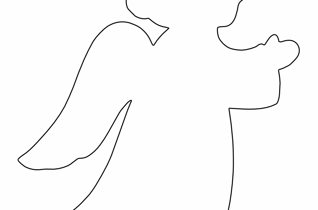 Silueta de ángel 3