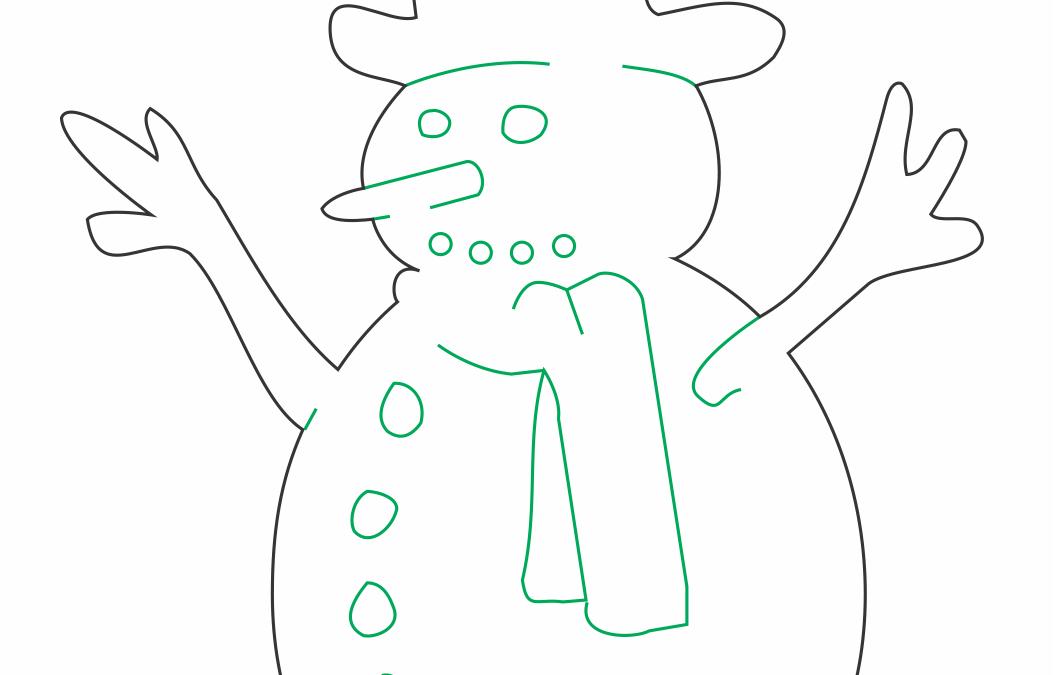 """Decoración """"Muñeco de nieve"""""""