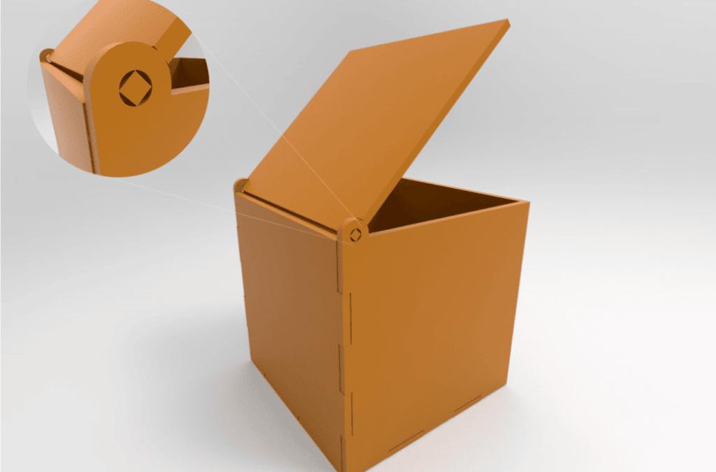 Diseño de Cajas con Bisagras en Corte Láser CNC