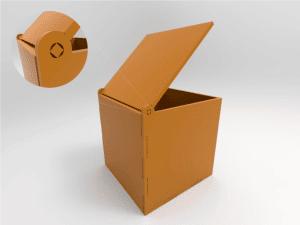 cajas con bisagras en corte láser
