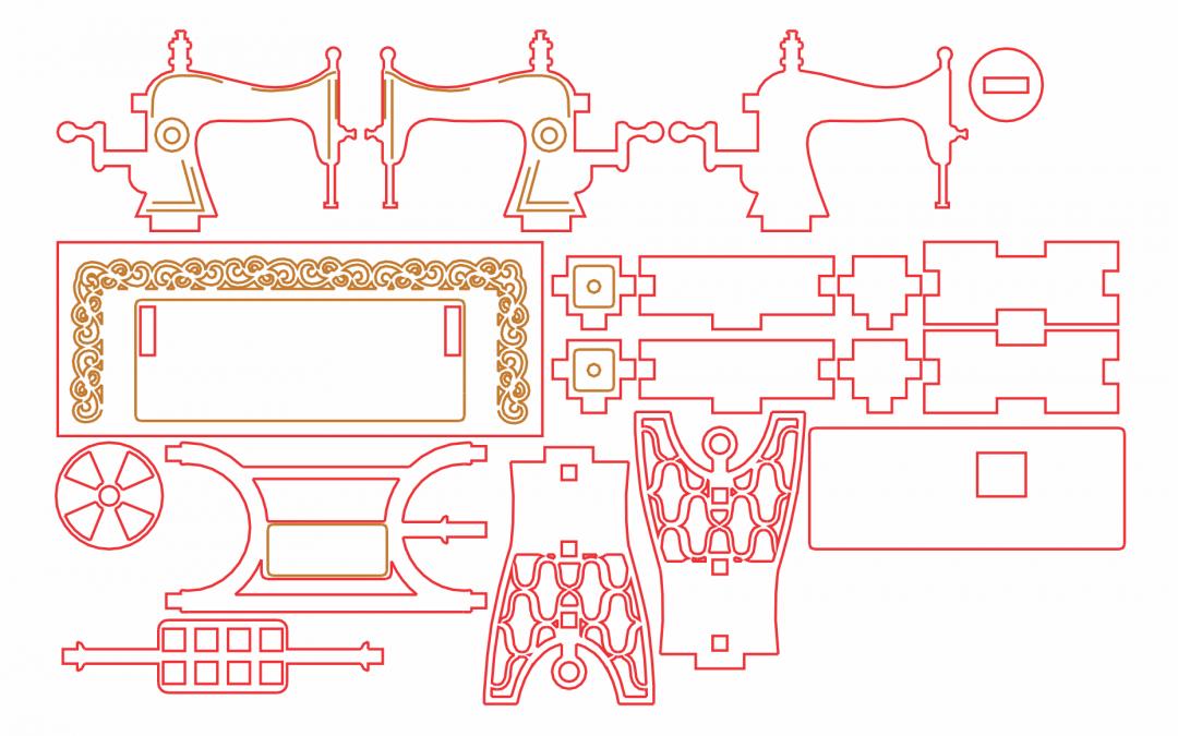 Máquina de coser 3D