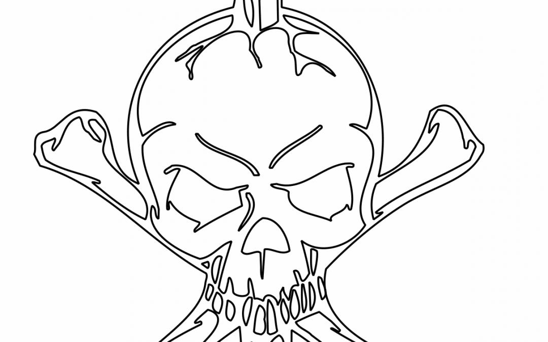 Cráneo con espada
