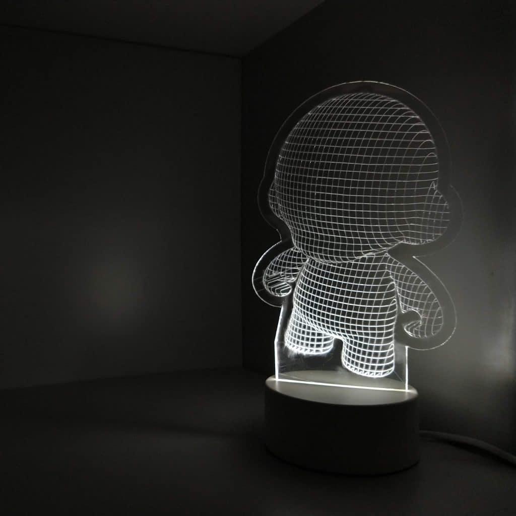 Como diseñar una lámpara LED 3D de acrílico para corte láser