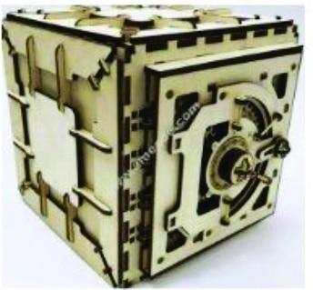 Caja fuerte de engranes