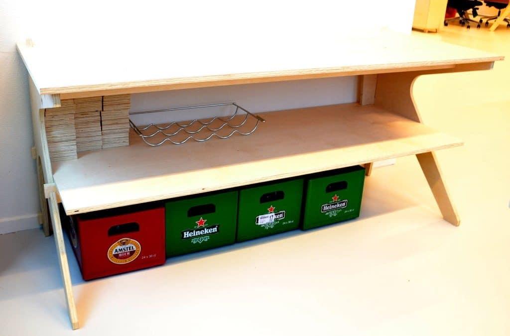 Organizador de dos niveles para escritorio